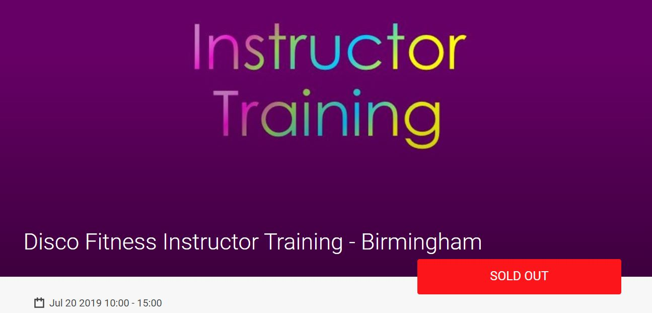 Disco Fitness Instructor training